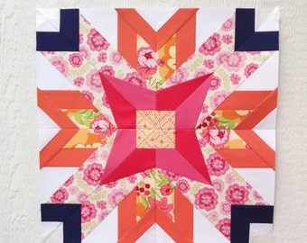Paper Piecing - Libra #245 - Zodiac Block of the Month - 3 sizes