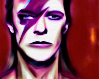 David Bowie Chameleon/original/OilPainting/oil painting/150cmx110cm/XXLPainting/Portrait/Bowie/Ziggystardust/painting/expressive/Rockmusic/
