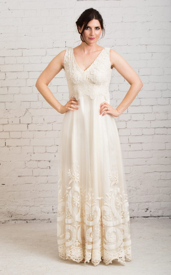 rustic wedding dress boho wedding dress casual wedding
