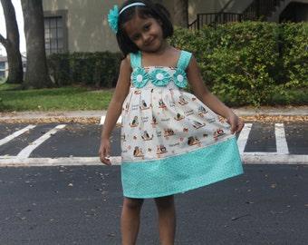 Girls Easter Dress, Size 6,7,8,9,10 Girls Cotton Dress, Girls Summer Dress, Girls Spring Dress