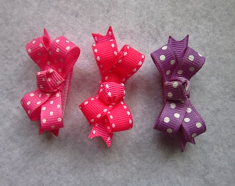 """Infant bows,Bows, Fine hair bows, pet bows, bows for babies, baby bows, 2"""" bows for babies (any 3)"""