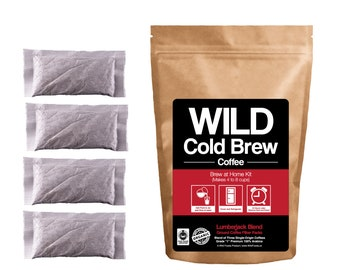 Brew-At-Home Wild Cold Brew Coffee Pouches by Wild Foods, Organic, FT Fresh Roasted Coffee