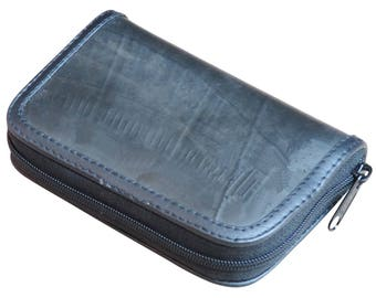Small zipper wallet made from inner tube, FREE SHIPPING,  cyclist biker innertube tire tubes black rubber girlfriend best friend driver bike