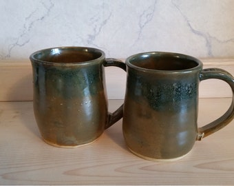 Pottery rustic mug set