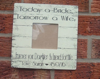 Wedding package gifts picture frame wedding photo frame personalized bride & groom 8x8 inch
