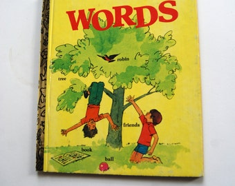 Vintage Children's Book, , A Little Golden Book, Words