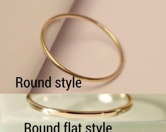 10k Stackable ring, 10k Stack Ring, 10k Skinny Ring, 10k Dainty Ring, 10k Round ring, 10k smooth Ring, 10k Hammered Ring, 10k gold ring