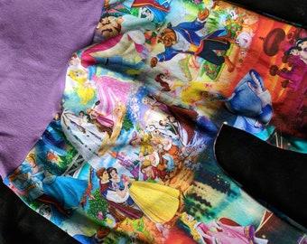 Princesse, des contes de fées, des princes, fin heureuse, Megaloones, grandir avec moi pantalon, 2 ans à 6 ans, cadeau d'anniversaire, cadeau de shower de bébé, vêtements de geek,