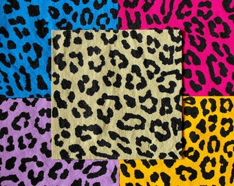 Leopard Print Patch Animal Print Fabric Punk Patch Neon Animal Print Patch Leopard Patch Cat Patch 80s Patch Punk Patches Cheetah Print