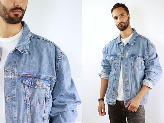 CARRERA Denim Jacket Mens Jean Jacket Carrera Denim Jacket Blue Jean Jacket Men Grunge Jacket Vintage Denim Jacket Denim Jacket Denim Jacket
