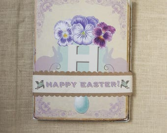 Happy Easter mantel card spring holiday hostess gift