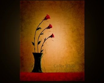 WITHER AWAY.  Abstract Floral Art Print. Free Shipping inside US.