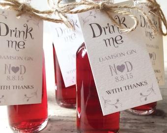Drink Me - Wedding Favour Labels x 20
