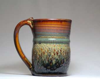 ceramic mug, 12oz pottery mug, pottery coffee cup