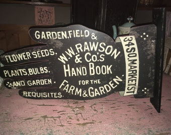 Double sided metal Hand Gardening Advertising Sign
