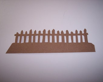Border Die Cut Fences set of 4