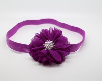 Plum Headband, Purple Headband, Plum Flower Girl Headband, Plum Birthday Headband, Plum Hair Clip, plum flower headband,