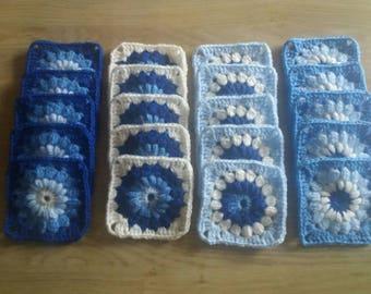 Handmade granny squares sunburst design pack of 20