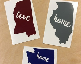 State Love Decal - Vinyl Decal