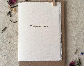 Letterpress Congratulations card