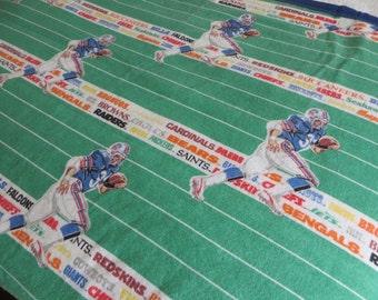 NBU Vintage NFL Football Blanket Coverlet Bedspread Vintage Football Boys Bedding Boys Bedroom Football Decor NFL Logo Blanket