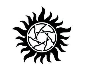 Wayward Sisters/ anti-possession symbol vinyl sticker decal