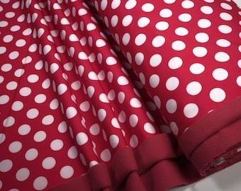 Softshell big white dots on red 0.54yd (0.5m) 003853