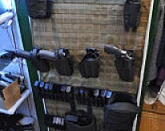 MOLLE Gun Safe Door Panel Organizer - Custom Made to Fit Your Safe Door