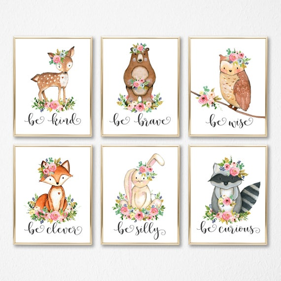 Popular Items For Nursery Decor On Etsy Baby Shower: Nursery Wall Art. Girl Woodland Nursery. Woodland Nursery