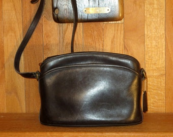 Etsy BDay Sale Coach Anderson Bag Black Leather With Adjustable Crossbody Strap- Made in United States- VGC