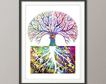 Tree Art Print - modern art, home decor, gallery wall, abstract, wall art, kitchen decor,