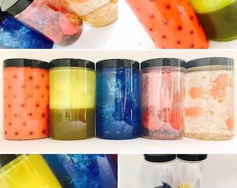 Sensory Bottles, The Very Hungry Caterpillar Calm down Jars, Sensory Story Props