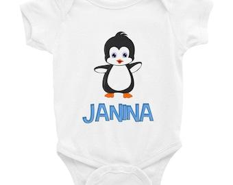 Janina Penguin Infant Bodysuit