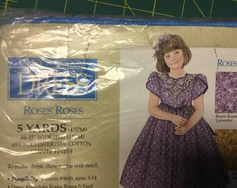 Daisy Kingdom Roses Roses Lavender. -  5 yard new package