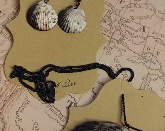 Sea Witch Necklace, Earring Pair