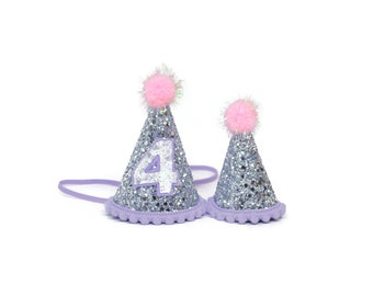 Girl and Doll Party Hat Set || American Doll  Crown || Party Hat For Kids || First Birthday Hat || First Birthday Party Hat || Birthday Hat