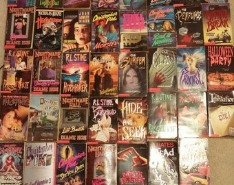Three vintage, random 1990s young adult horror books - terror authors like R.L. Stine & Christopher Pike, Fear Street, I choose, you shiver!