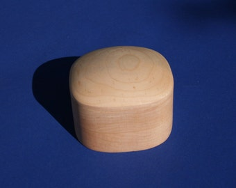 Maple Super Ellipsoid Shaped Box #3