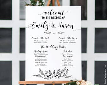 Rustic wedding program sign Printable wedding program signs Wedding programs large Rustic program sign reception Welcome program sign