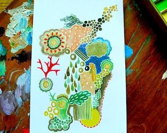 water dreamscape - 4 x 6 inches