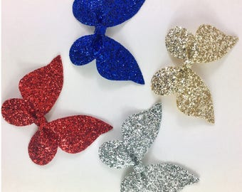 Butterfly Hair Clips / Glitter Hair Clip /