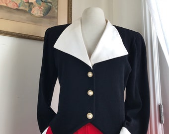 St. John for Neiman-Marcus black knit jacket // Size 12