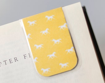 Horse bookmark magnetic bookmark gifts for girls gift for horse bookmark magnetic horses equine bookmarks trotting horses bookmark spring happy easter gift idea school teacher education negle Gallery