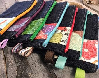 One Zipped Cash Envelope - Yarn - Crochet - Knitting - Craft Budgeting - US Dollar Bill or Change Purse - Just the Envelope