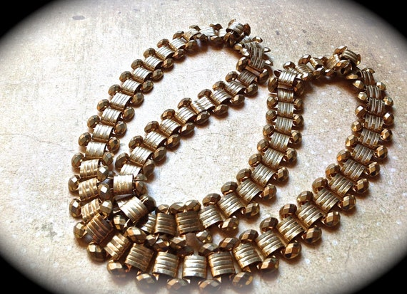 Vintage chain necklace vintage chain gold tone necklace