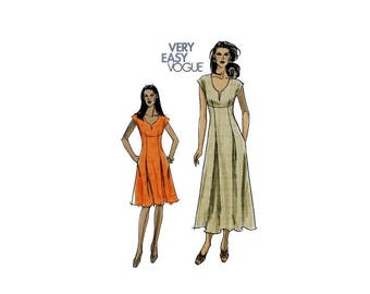 2000 Sewing Pattern - Vogue 8382 - Empire Waist Dress UNCUT