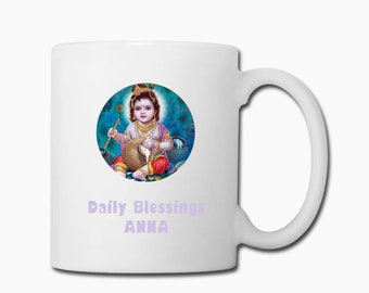 Krishna Cup PERSONALISED Blessings name