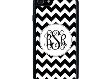iPhone 5 5s 6 6s 6+ 6s+ SE 7 7+ iPod Touch 5 6 Phone Case, Chevron Design, Initials, Letters, Monogram, Plus