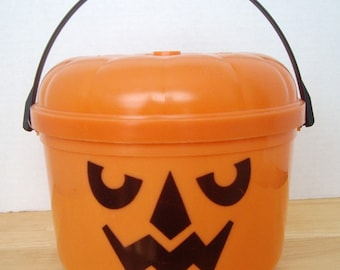1985 McDonald's McGoblin Halloween Happy Meal Pail, Trick or Treat Pail