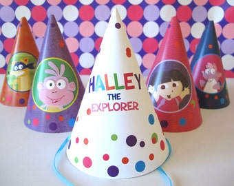 Dora the Explorer Party Hats, You Print